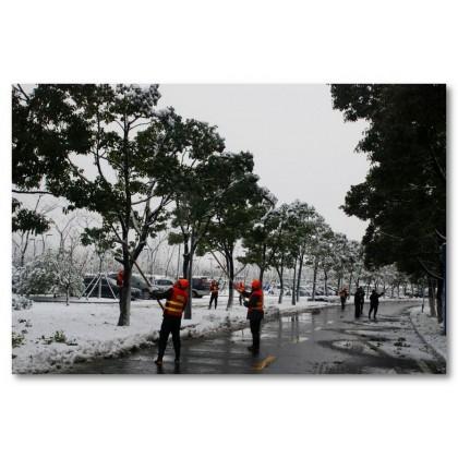 Αφίσα (χιόνι, χειμώνας, δουλειά)